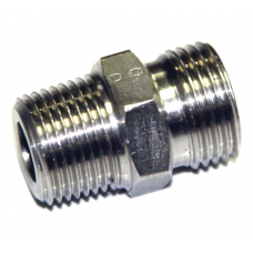 "Концевик для труб 1/4"" нар х 12мм трубка нерж прямой (нержавейка)"